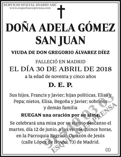 Adela Gómez San Juan